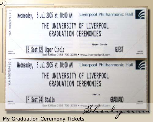 my graduation tickets