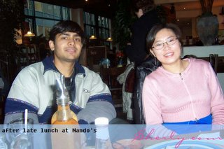 After lunch @ Nando's