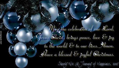 Happy and Blessed Christmas for you!