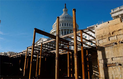 In Case You Hadn T Noticed The Capitol Building In Washington Is Getting A 500 Million Dollar Bunker Installed At The Foot Of It S Front Entrance