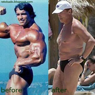 Arnold Schwarzenneger Body Building Pic