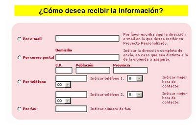 como desea recibir la información