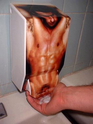 publicidad expendedor jabón