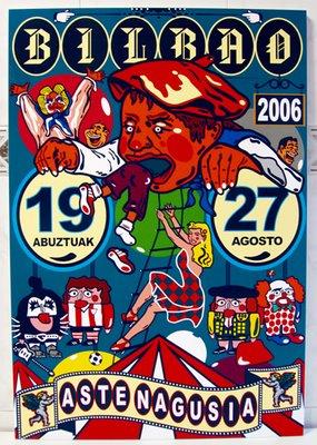 cartel fiestas bilbao 2006