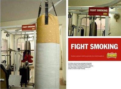 gimnasio y tabaco