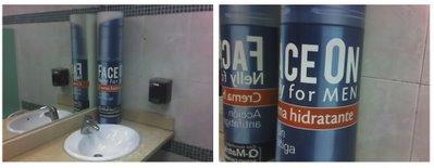publicidad en el lavabo