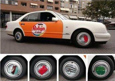publicidad en las ruedas