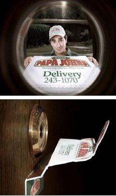 publicidad mirilla puerta