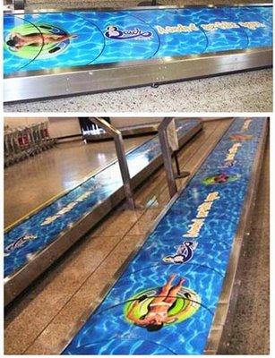 publicidad en las cintas de equipaje