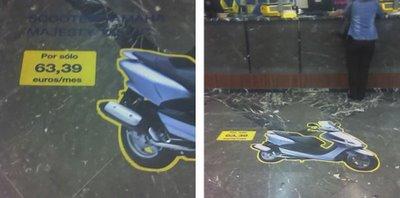 publicidad horizontal correos para vender moto