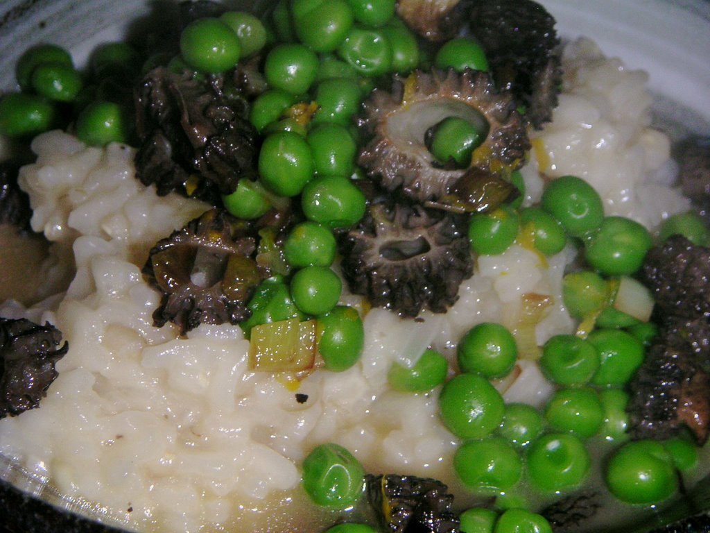 Risotto with Morel and Petite Pea Ragout , adapted from Gourmet