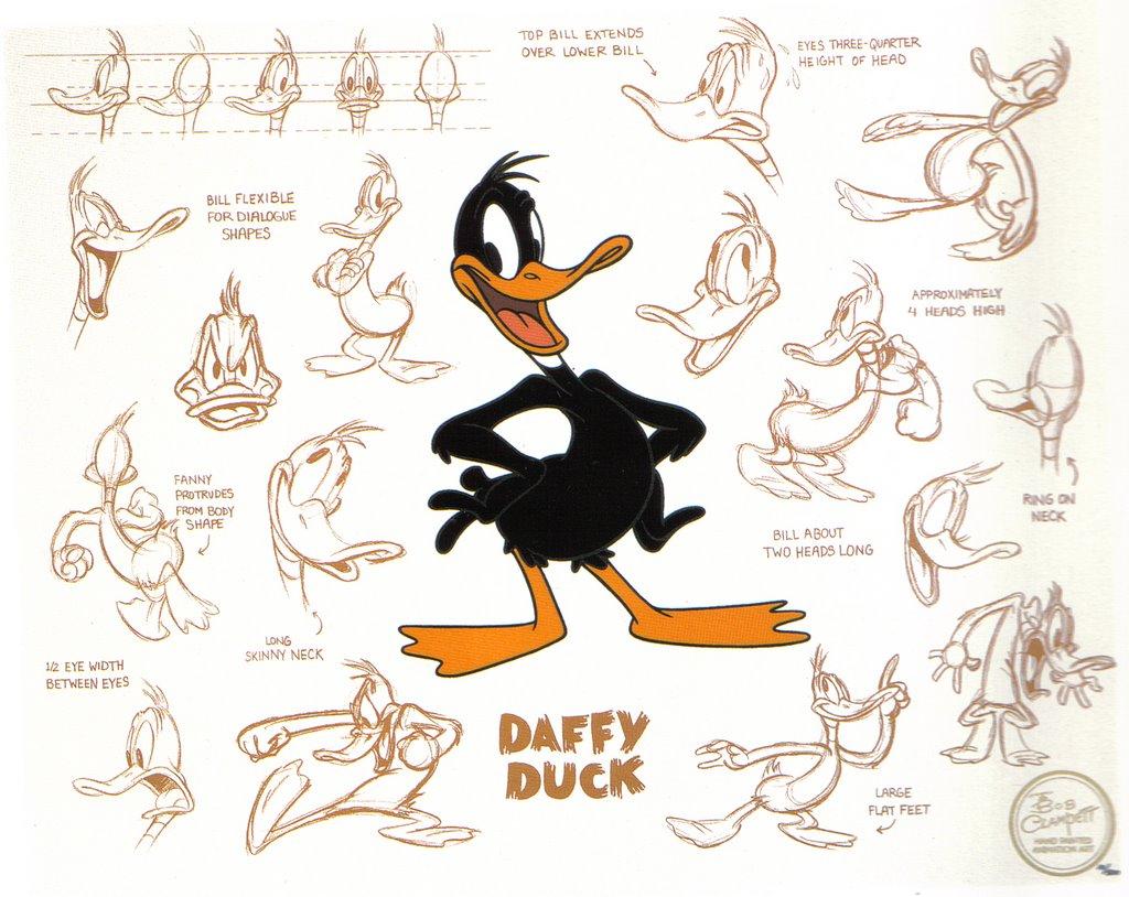 cartoons model sheets stuff daffy duck model sheets