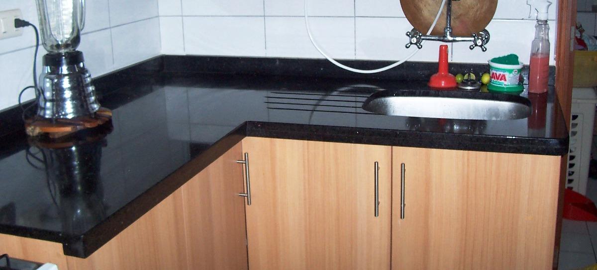 Marmolito cocina 3 for Granito negro para cocina