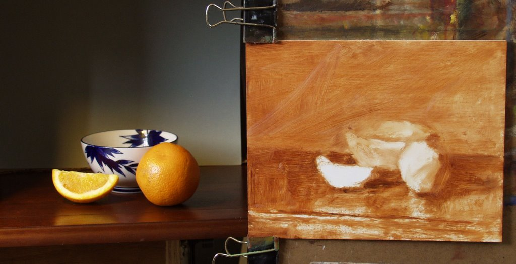 Daily painting practice orange and rice bowl - Painting tool avis ...