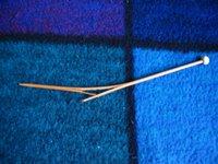 Broken bamboo needle