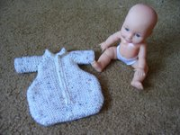 Doll with bunting