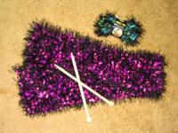 Fancy Fur scarf after