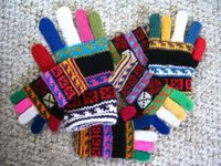 a pile of gloves, Guatemalan style