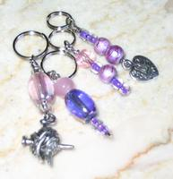 purple stitch markers