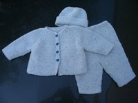 garter stitch baby outfit