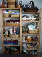 Yarn Stash on shelves