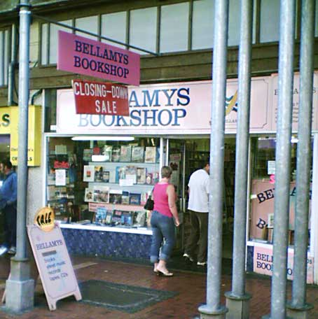 Bellamys Bookshop closing down
