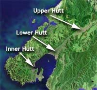 Upper Hutt, Lower Hutt, Inner Hutt: location for 2HOT2 Handle