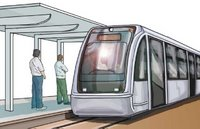 Drawing of an LRT stop