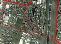 Possible routes for a Wellington CBD to airport LRT system - Kilbirnie to airport - basemap from zoomin.co.nz