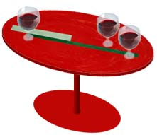 Drinks table at the (fictional) Albrecht bar
