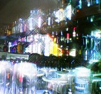 Blurry, sparkly bar scene