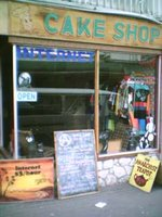 The Cake Shop, and anarchist internet cafe in Cuba St