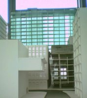 Model of the Chews Lane complex from the east