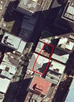Approximate footprint of Chews Lane apartments