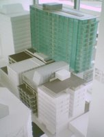 Model of the Chews Lane complex from the northeast