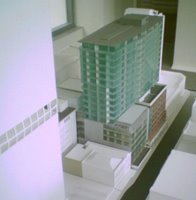 Model of the Chews Lane complex from the northwest