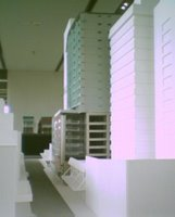 Model of the Chews Lane complex from the south