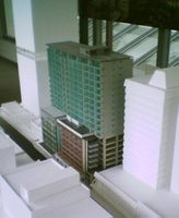 Model of the Chews Lane complex from the southwest