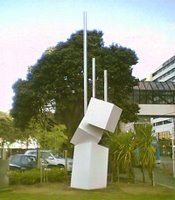 Guy Ngan's 'Geometric Growth' 1974 - relocated near the Michael Fowler Centre