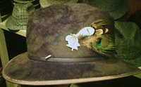 Felt hat with feathers from Wellington Hatters