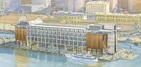 Queens Wharf Hilton - artist's rendering from the northeast