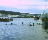 Kayak Polo by the waterfront