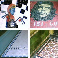 A montage of mosaics and tiles from Te Aro