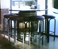 Mystery Bar #15 - stools and barrel