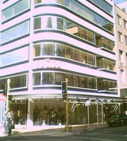 Wellington's 'Silver Mile' - new shops on the corner of Featherston and Waring Taylor St