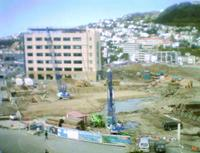 Waitangi park - graving dock under construction