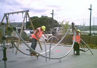 Waitangi Park - testing the playground