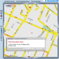 Screenshot of new Wises mapping site