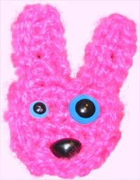 Crocheted bunny - photo by ellipse