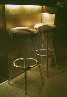 Mystery Bar #32 - fluffy bar stools